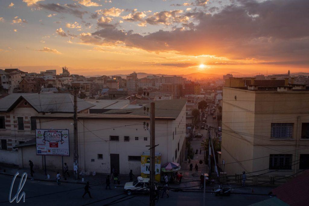 Sonnenuntergang über Antananarivo