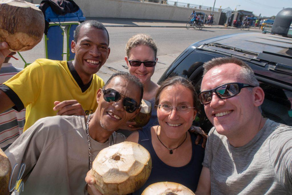 Unsere komplette Reisegruppe: Tahina, Christian, Mona, Katja und Christian