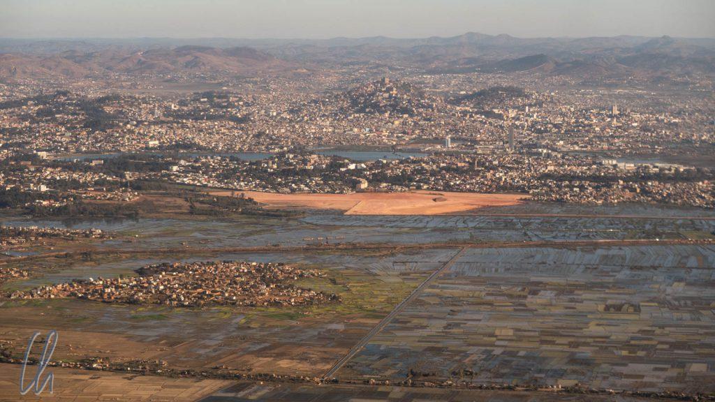 Antananarivo aus der Vogelperspektive