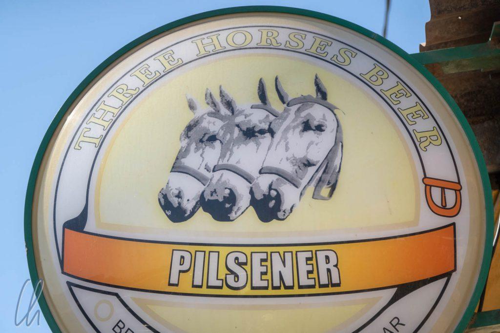 """Das """"Three Horses Beer"""" (THB) ist eine der emblematischen Marken Madagaskars, auch wenn die Brauerei in französischer Hand ist."""