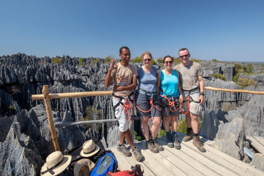 Aussichtspunkt auf dem Dach der Tsingys