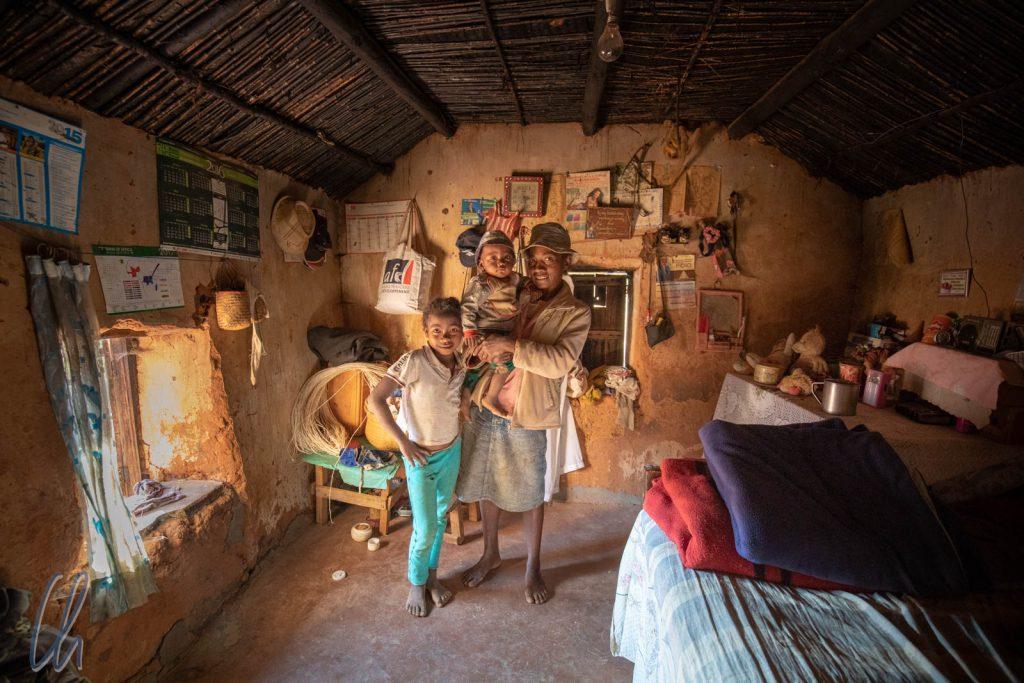 Im Haus einer Merina-Familie südlich von Antananarivo