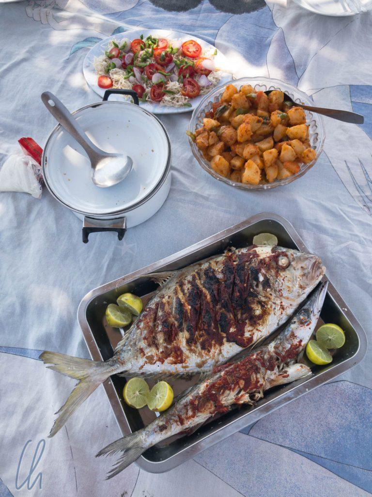 Ein Festmahl am Strand