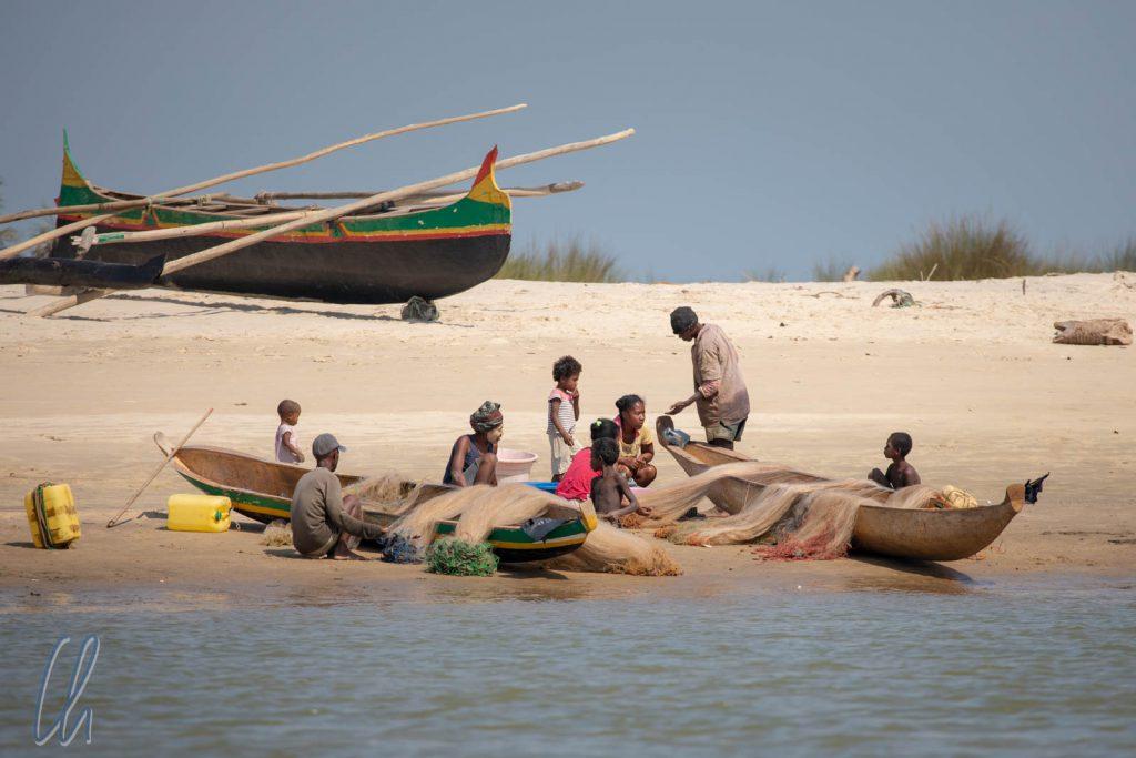 Auch hier waren die Fischer noch bei der Arbeit