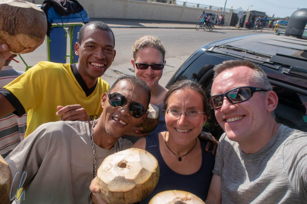 Die komplette Reisegruppe: Tahina, Christian, Mona, Katja und Christian