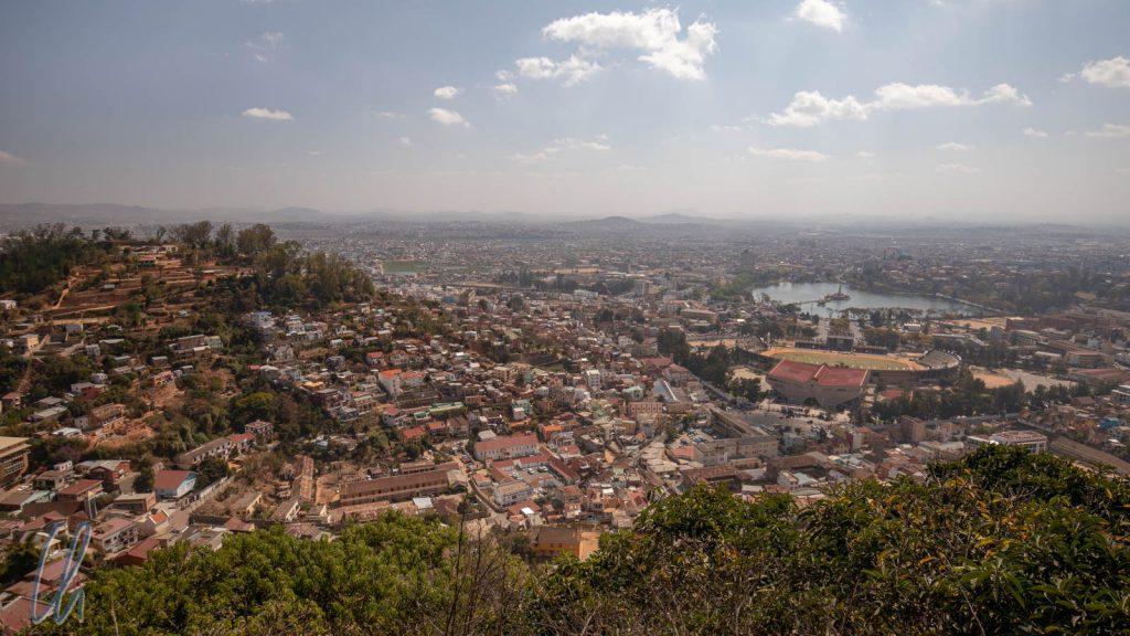 Ein Blick auf das eigene Reich: Antananarivo vom Rova aus betrachtet
