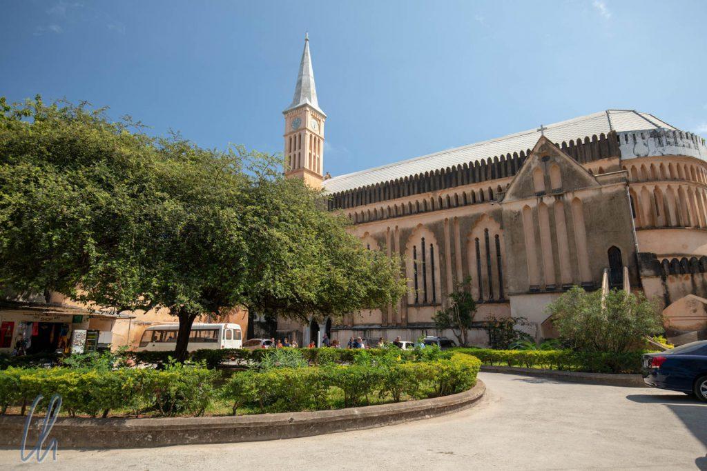 Die anglikale Kathedrale auf Sansibar. Früher befand sich an diesem Ort der größte Sklavenmarkt Ost-Afrikas.