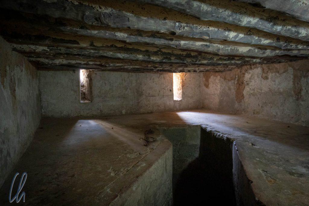 In dieser Kammer wurden 75 Sklaven zusammengepfercht.