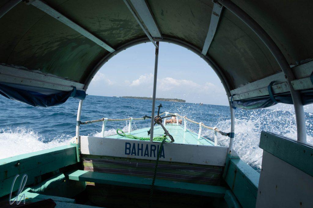 Die Überfahrt nach Chumbe Island war erstaunlich wellig.
