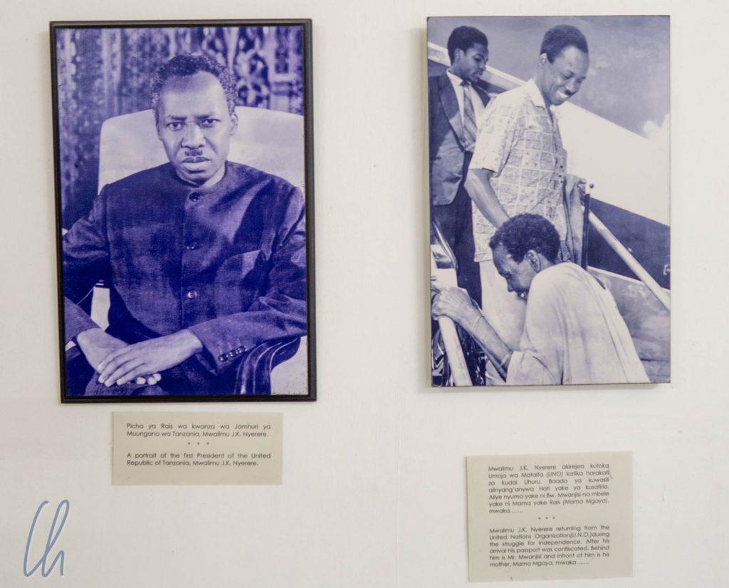 Fotos von Julius Nyerere im Nationalmuseum von Dar es Salaam