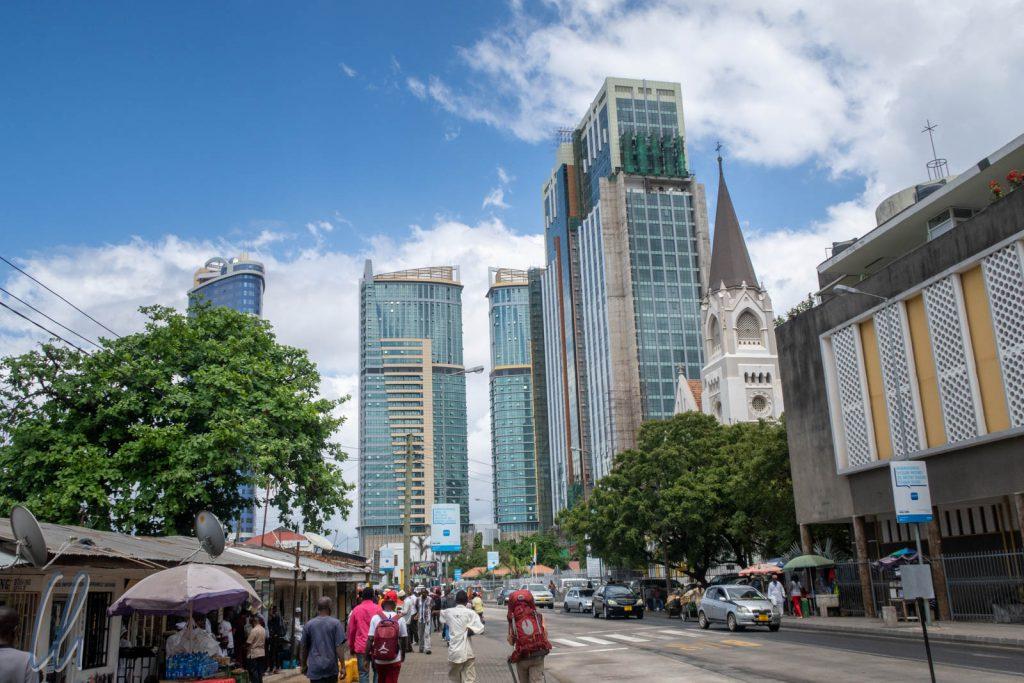 Der moderne Business District von Dar es Salaam