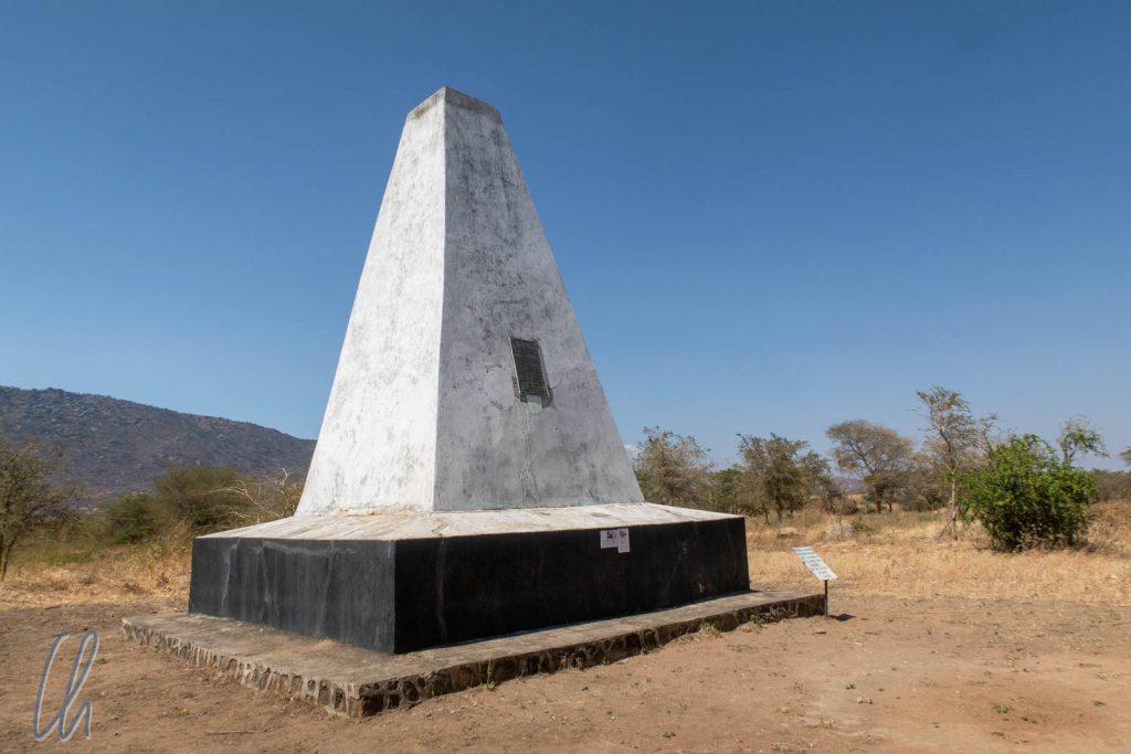 Denkmal für die gefallenen deutschen Soldaten in der Schlacht von Lugalo Hills am 17.08.1891.
