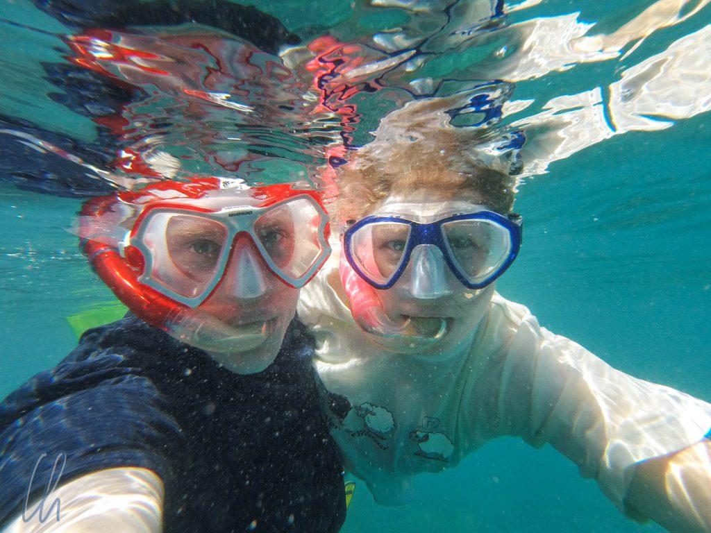 Unterwasser-Selfie vor Prison Island.