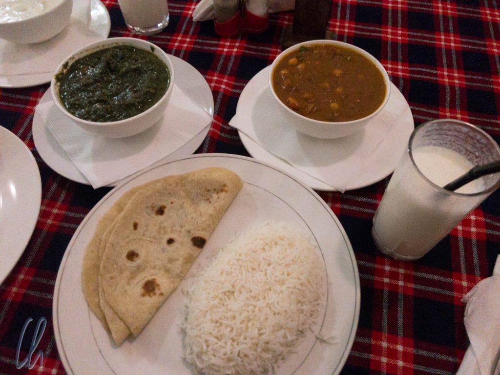 Viele Restaurant boten indische Küche an und meistens ausnehmend gut.
