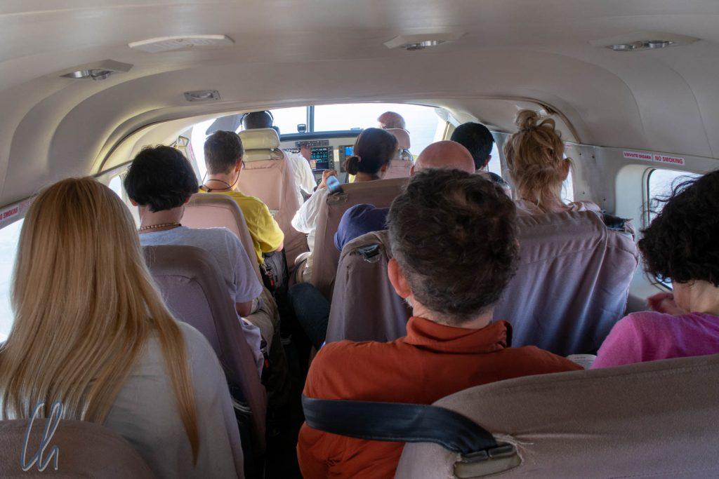 Das Flugzeug hatte gerade einmal 12 Sitzplätze.