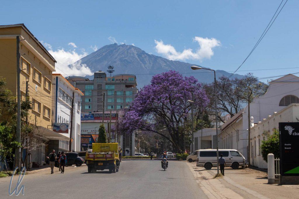 Der Mount Meru ist von vielen Orten in Arusha gut zu sehen.
