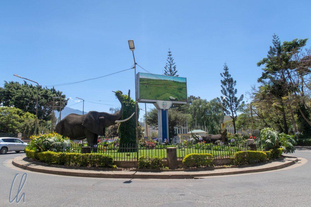 Ein Safari-Kreisverkehr in Arusha