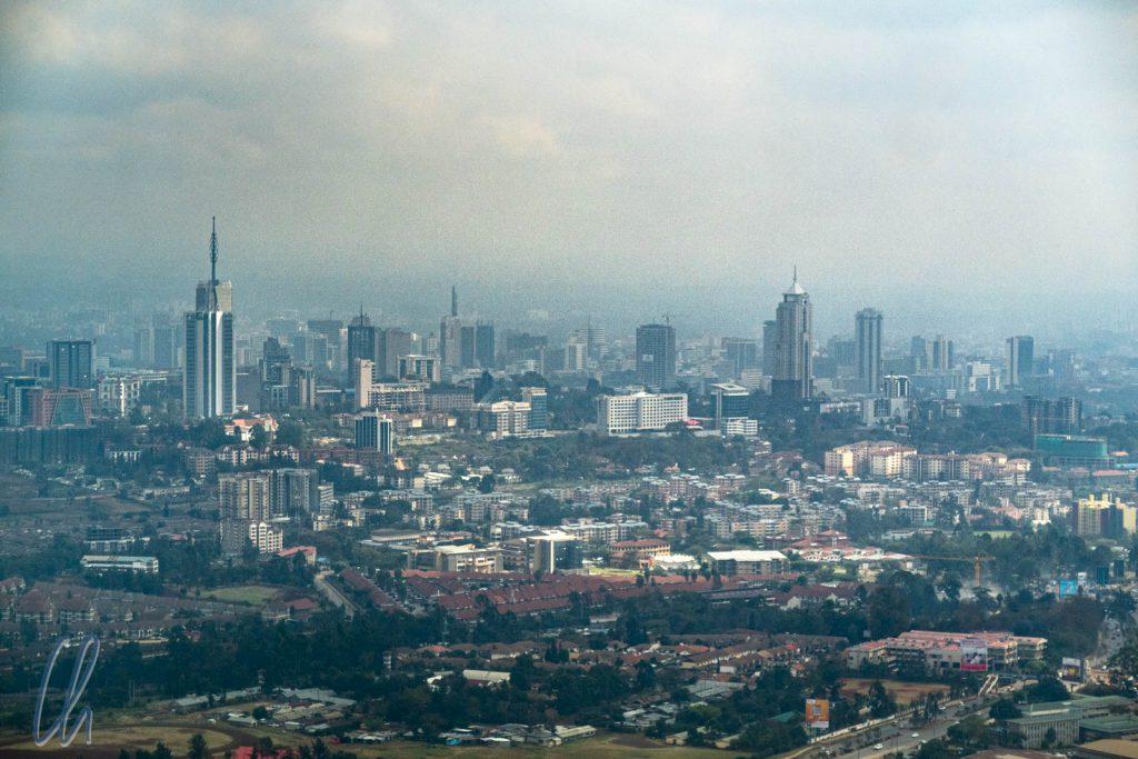 Die Skyline von Nairobi. Hier präsentiert sich Kenia sehr modern.
