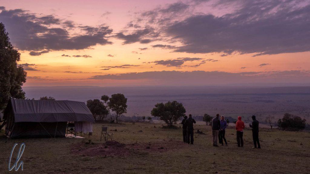Sonnenaufgang mit Blick über die Masai Mara