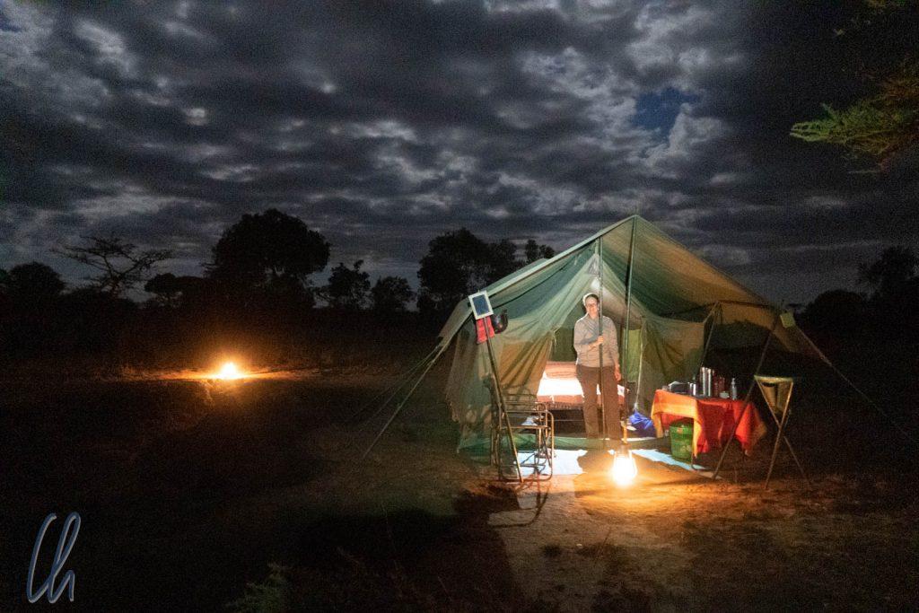 Zeltplatz am Mara-Fluss