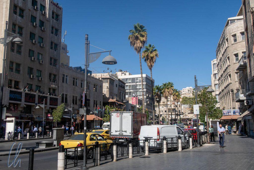 Eine der Hauptstraßen im Zentrum von Amman