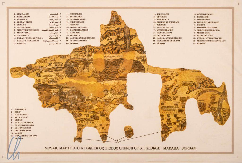 Das berühmteste Mosaik von Madaba: Die Karte des Heiligen Landes