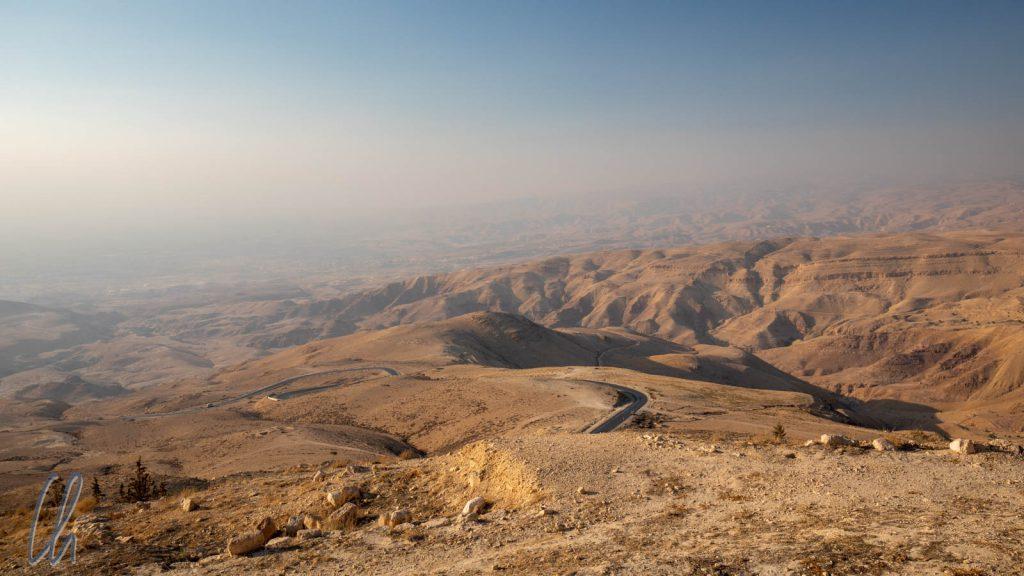 Der Blick über das Gelobte Land vom Gipfel des Berges Nebo