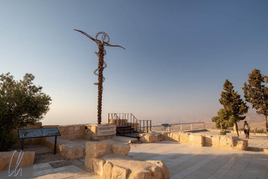Bronzekreuz am Mount Nebo