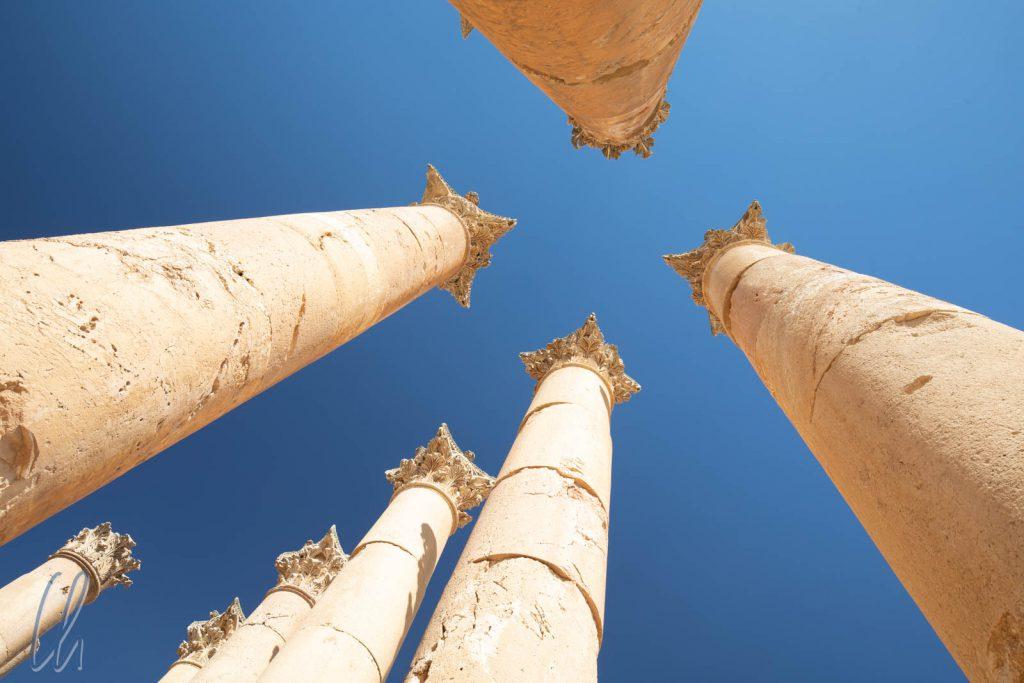 Die Säulen des Artemis Tempels