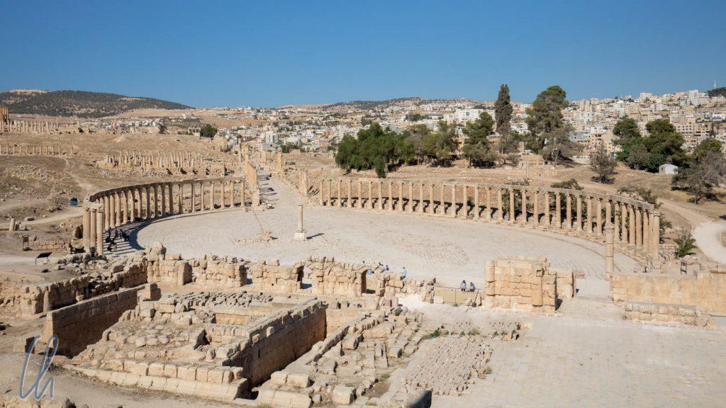Das ovale Forum von Jerash