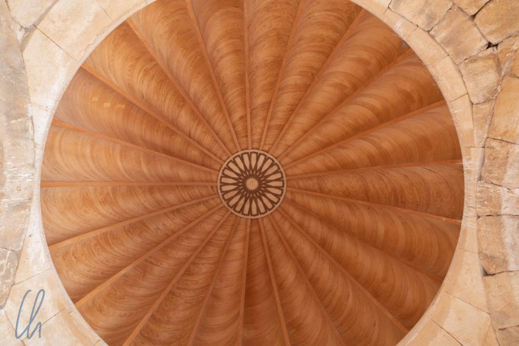 Die aufwändig rekonstruierte Kuppel im Hammam al-Sarah