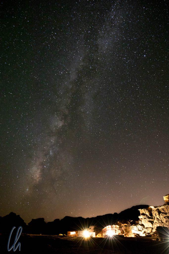 Die Milchstraße über unserem ersten Camp.