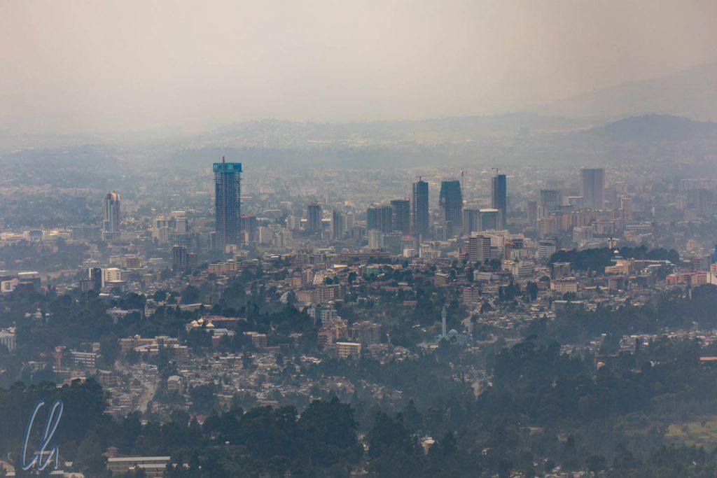 Blick über Addis Abeba vom Berg Entoto aus