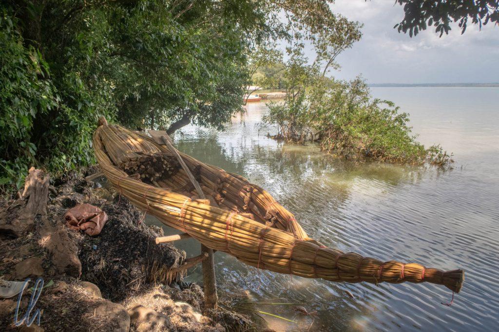 Unterwegs wie in biblischen Zeiten: Papyrusboote (Tankwas) sind auch heute noch gängige Wasserfahrzeuge auf dem Tanasee.