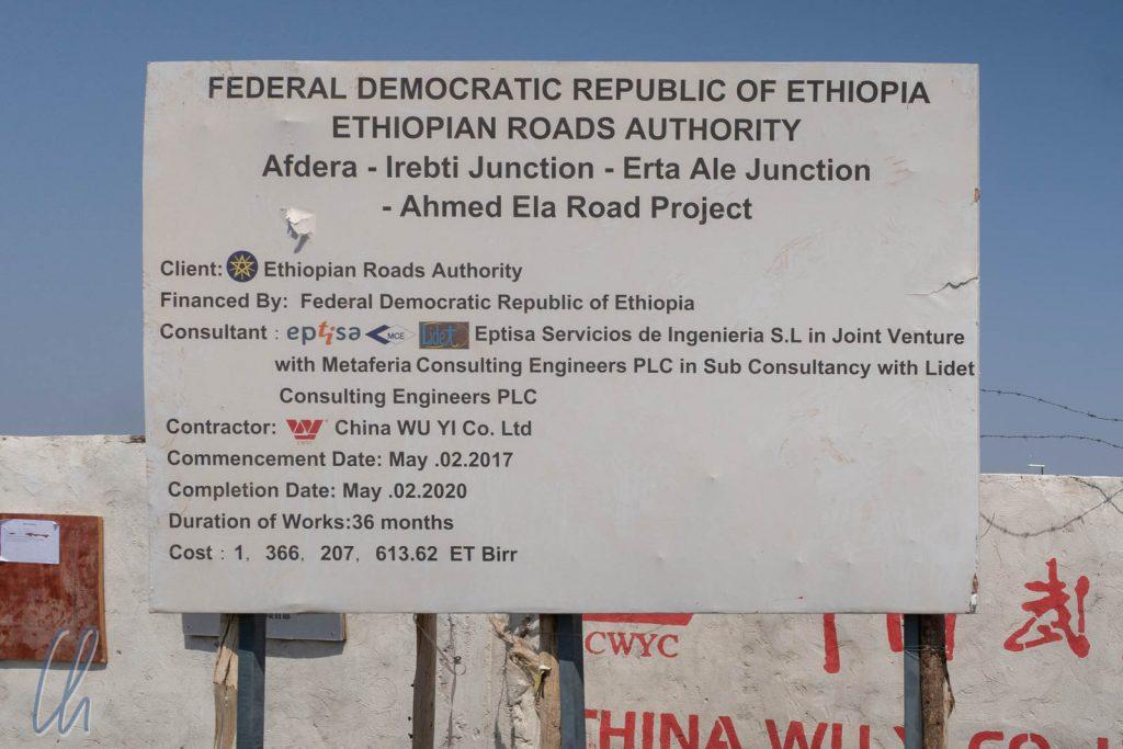 Eine chinesische Firma baut für Äthiopien.
