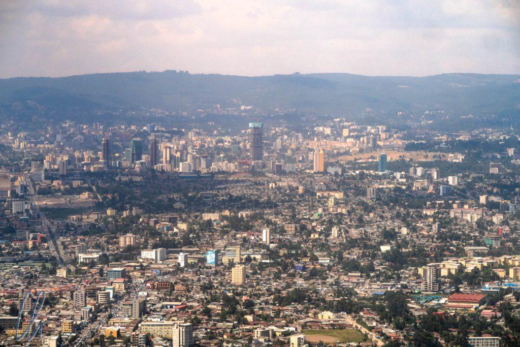 Addis Abeba aus der Vogelperspektive