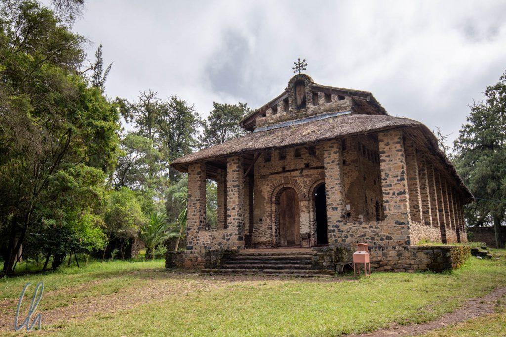 Die Kirche Debre Berhan Selassie. Ihre Proportionen sind dem Tabernakel des Tempels in Jerusalem nachempfunden.