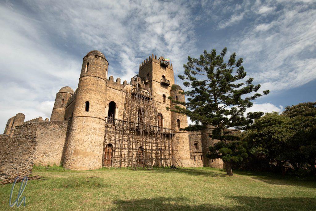 Fasilides Palast auf dem Burggelände im Zentrum von Gondar