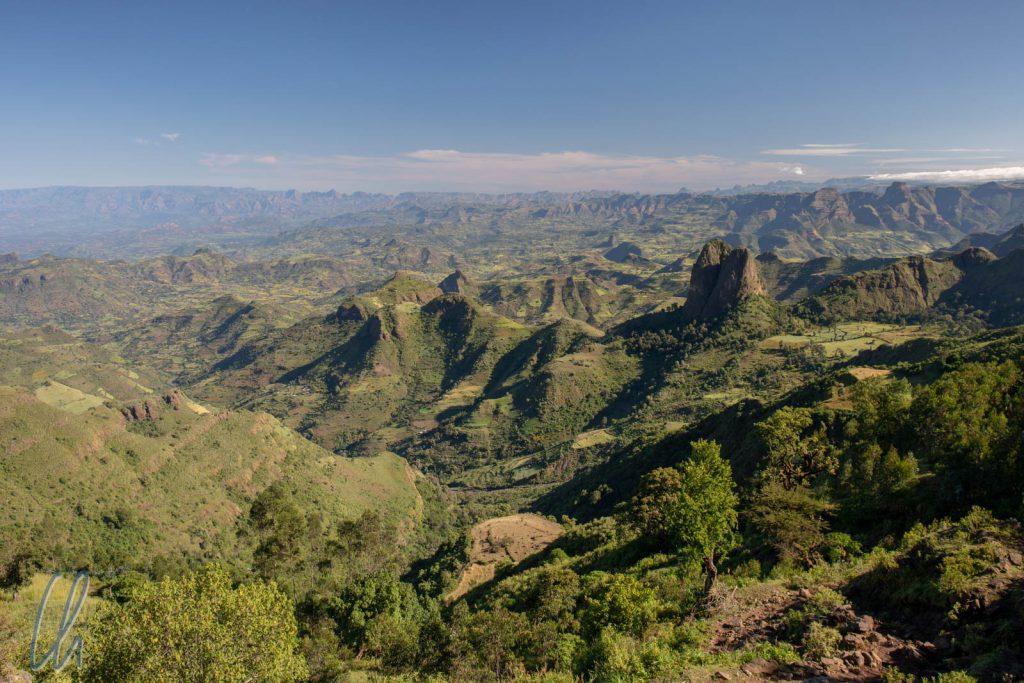 Die ersten Ausläufer des Simien-Gebirges