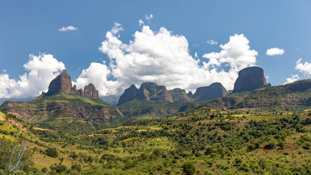 Ein Blick zurück auf das Simien-Gebirge