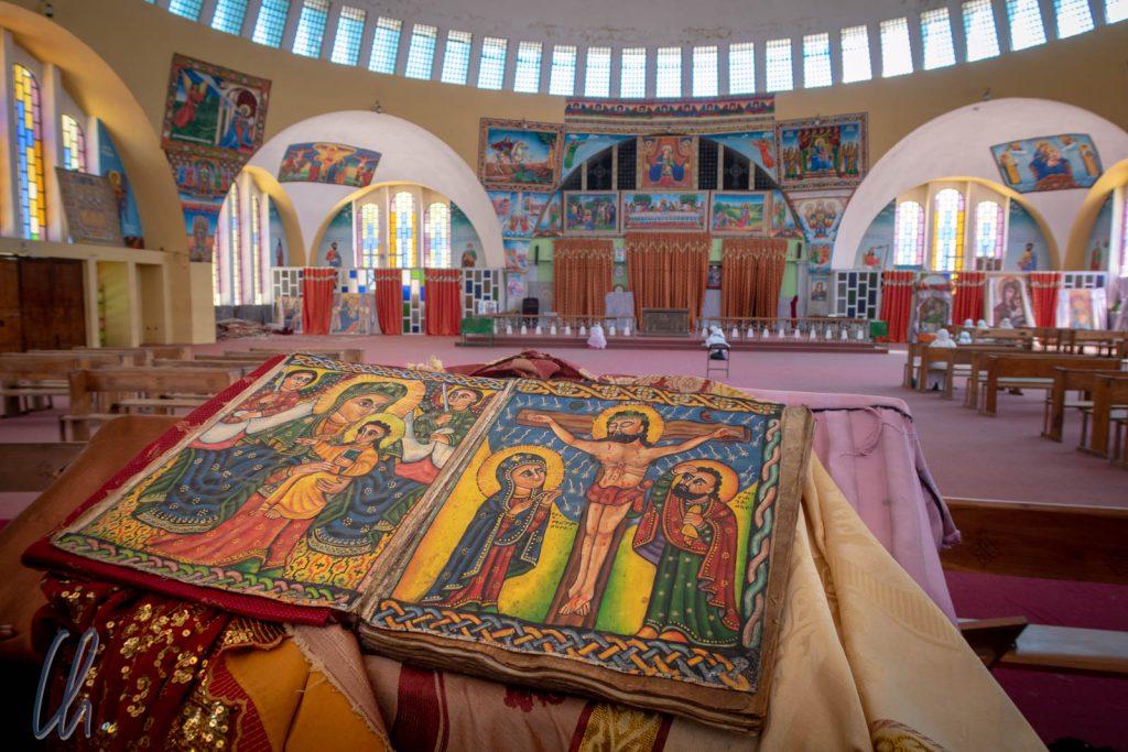 Im Innenraum der Kirche der Heiligen Maria von Zion