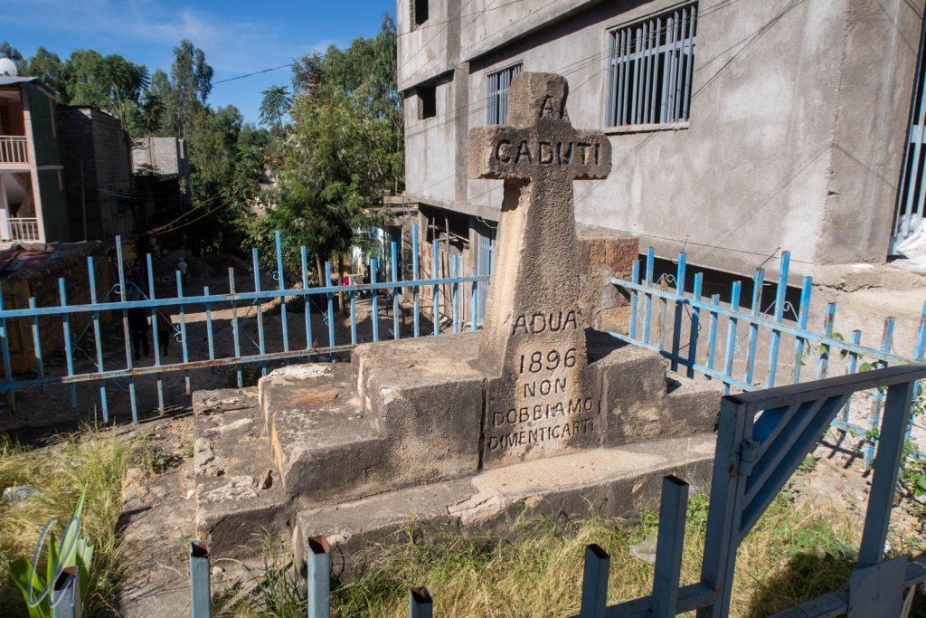 Gedenkstein für die gefallenen italienischen Soldaten