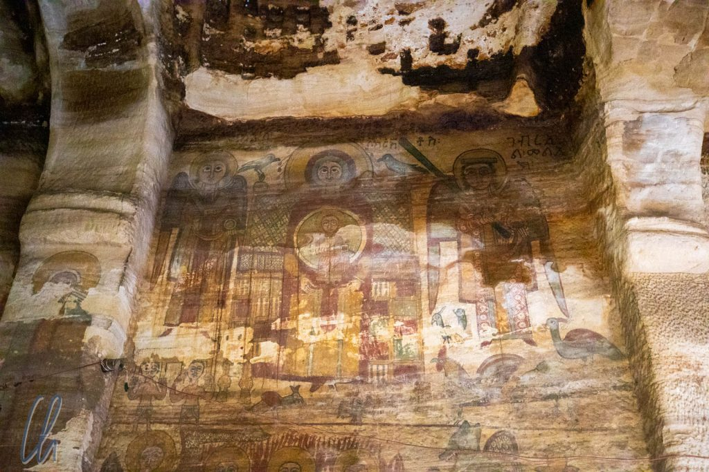 Die Wandgemälde wirkten trotz ihres Alters sehr lebendig.