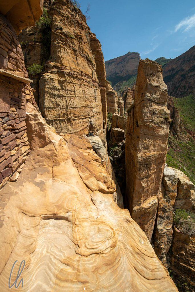 Für den Besuch von Abuna Yemata Guh darf man keine Höhenangst haben.