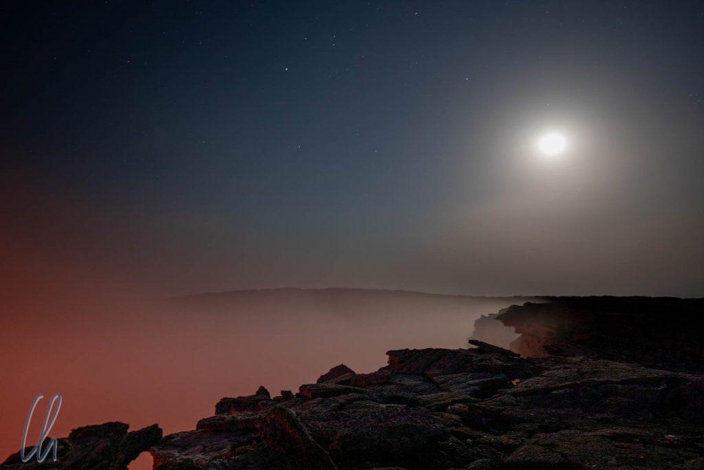 Mondschein über dem Erta Ale