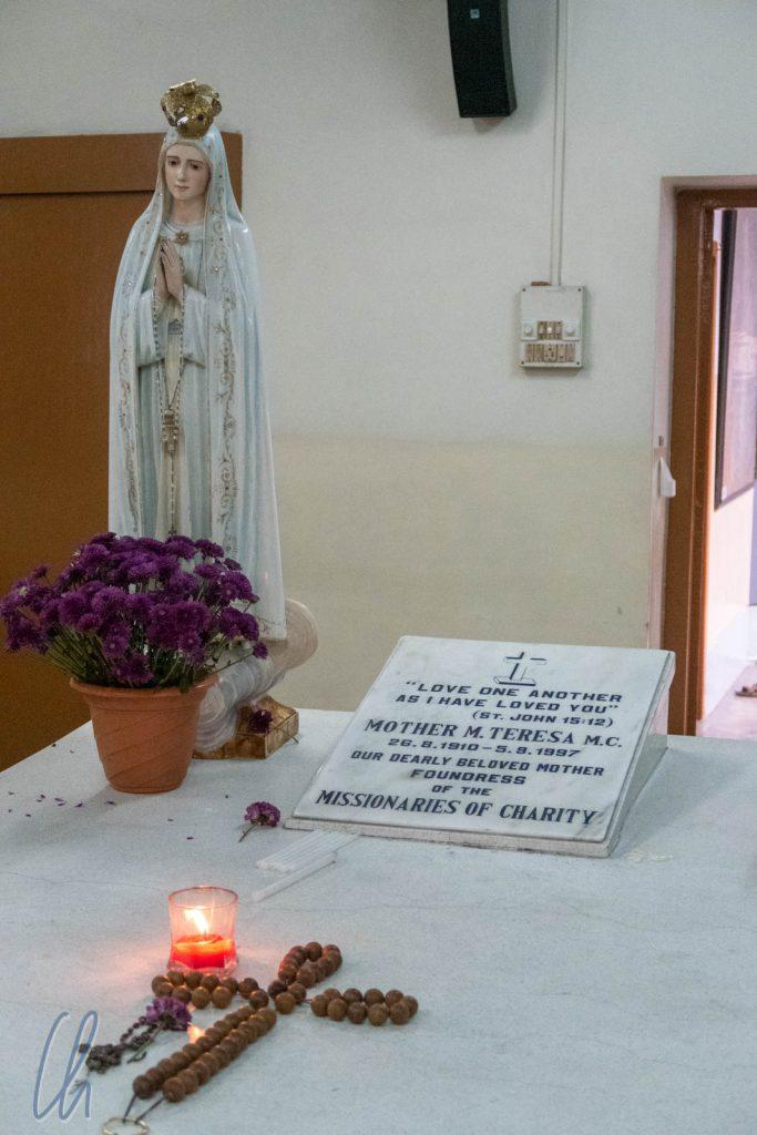 Mutter Teresas Sarkophag im Mutterhaus