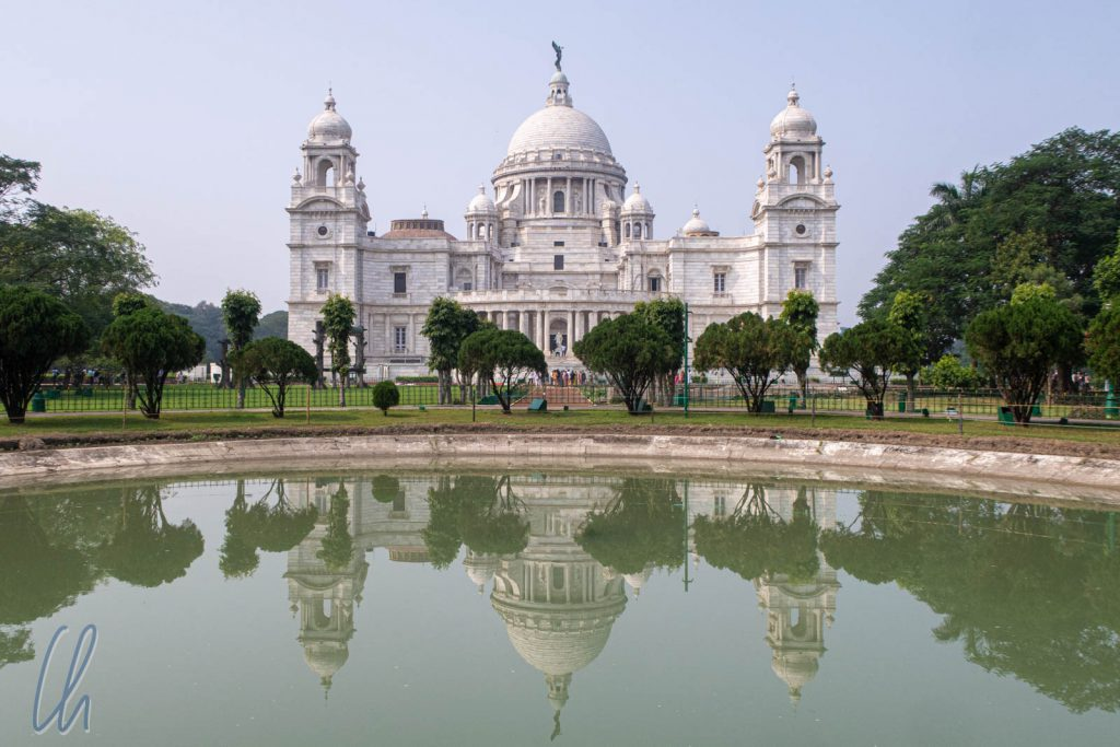 Das Victoria Memorial in Kolkata beeindruckt.