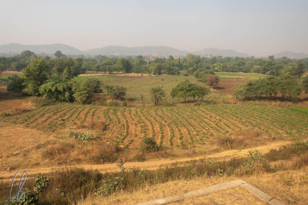 Blick aus dem Fenster kurz hinter Khajuraho