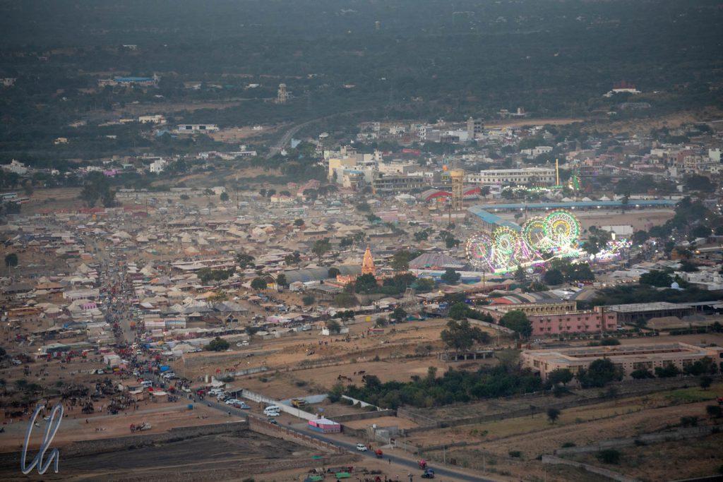 Die Pushkar Fair bildete eine eigene Stadt außerhalb des Ortes.