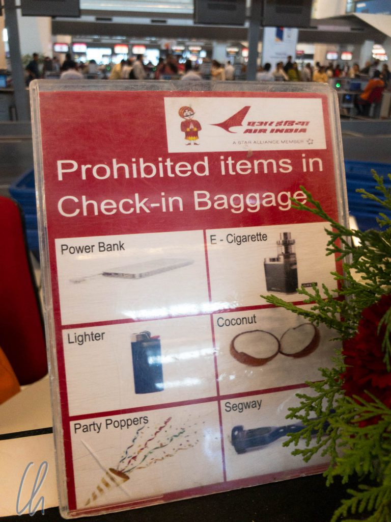 Die Regeln bei Air India: Kokosnüsse im Gepäck verboten!
